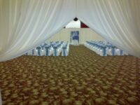 white door drape draping rental