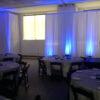 white backdrop pipe drape rental