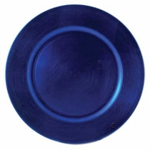 blue lacquer charger plate service plate rental chicago