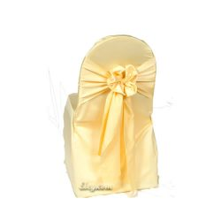 canary lamour satin small banquet chair cover