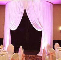 round doorway drape curved