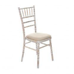 vintage white weathered rustic lime wash chiavari chair