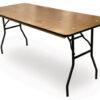 banquet rectangle rectangular wood folding banquet table
