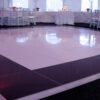 Black and white patterned different formal dance floor