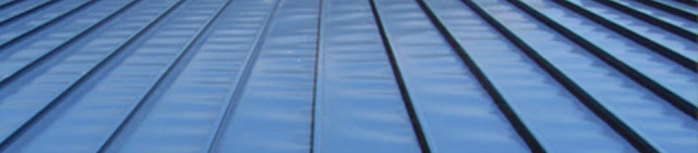 metal roof with ripples