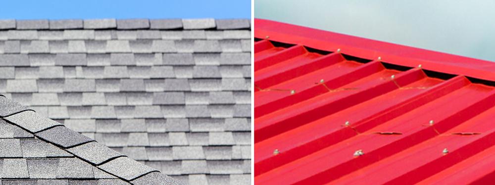 shingles or metal roof