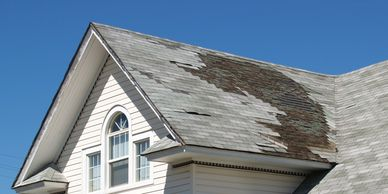 Missing shingles after a storm