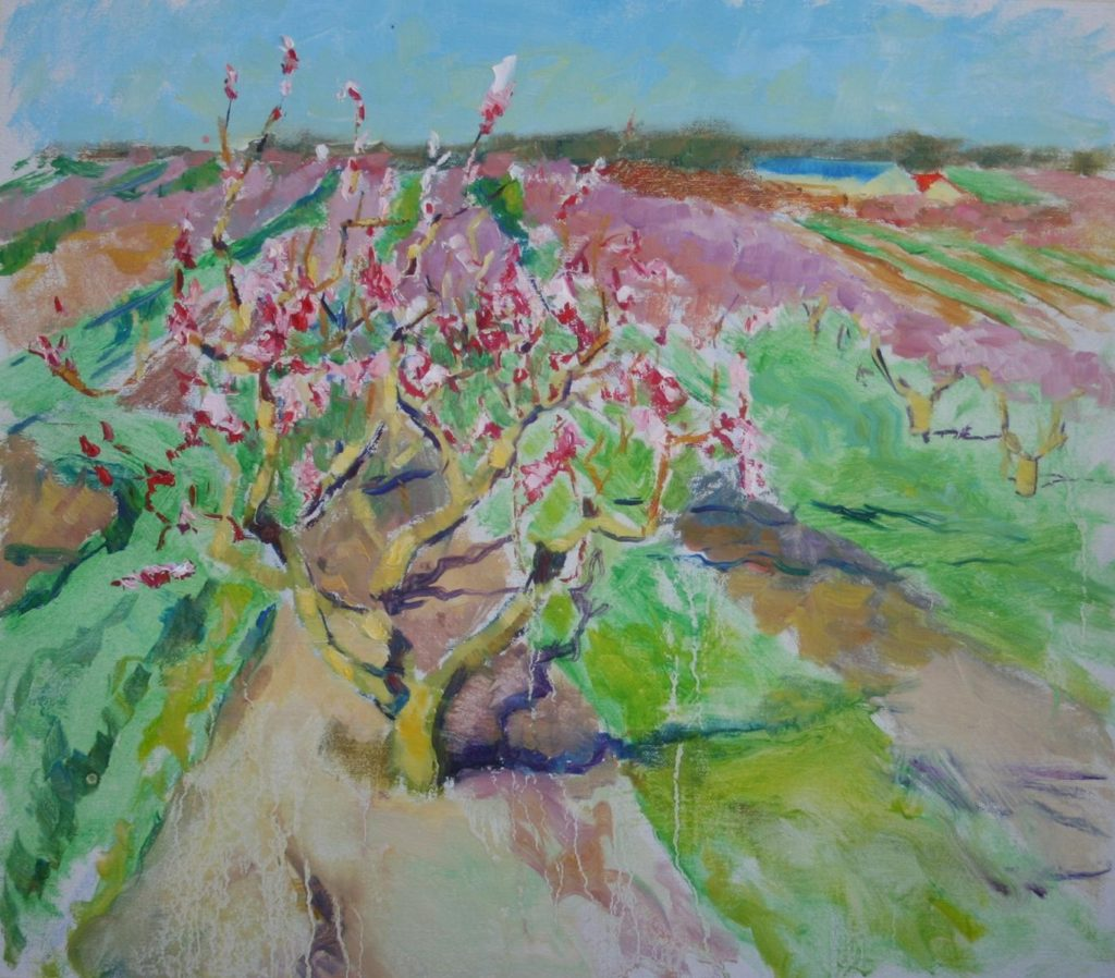 Blooming Peaches, oil on canvas