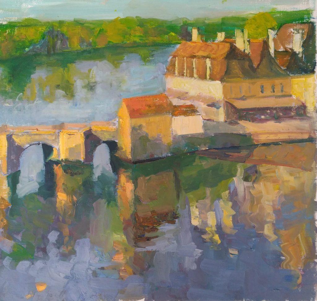 Bridge of St. Gaustan, Bretagne. Oil on Canvas.