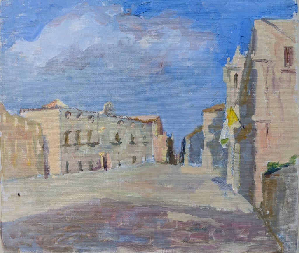 Syracusa, Sicily. oil on canvas.