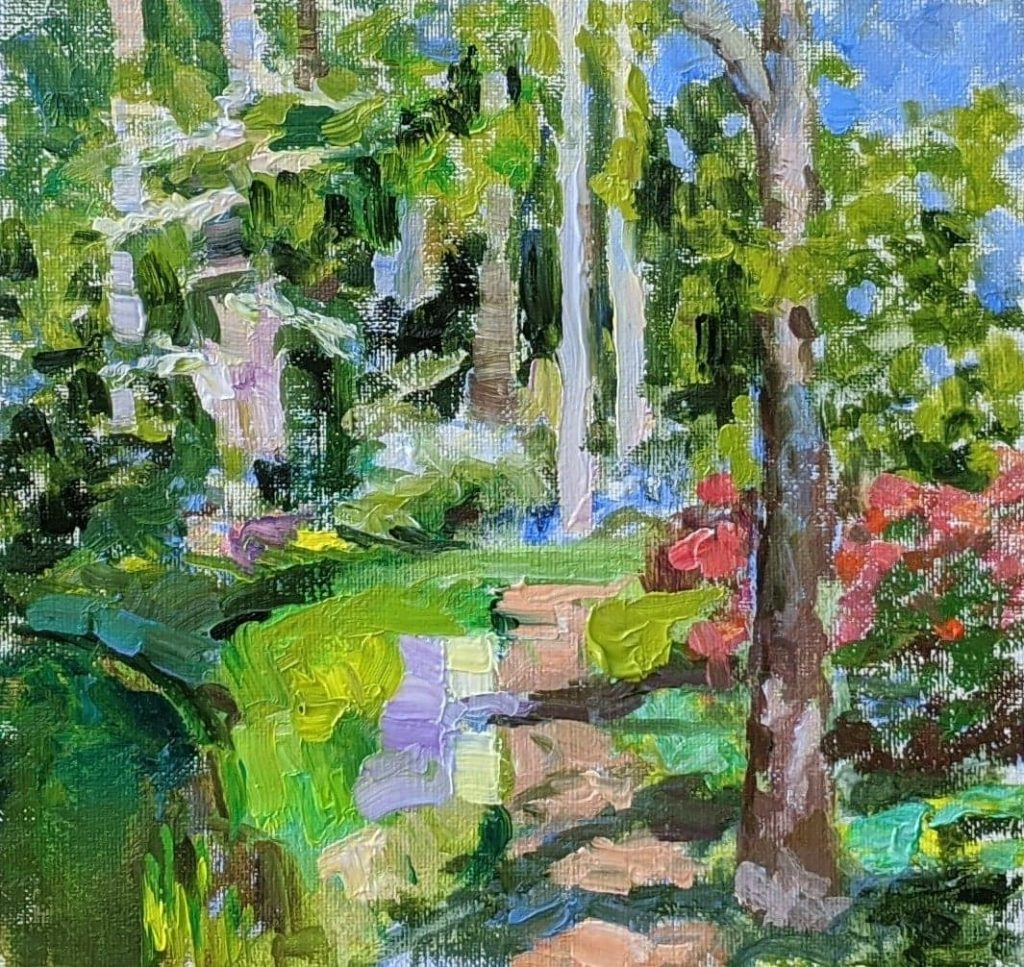 Brookgreen gardens. Spring. oil on canvas