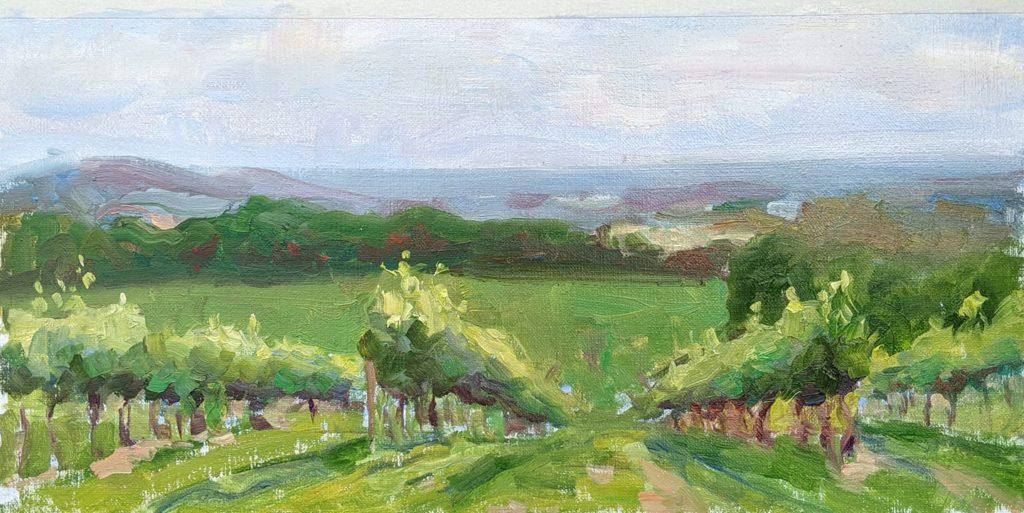 Honah Lee Winery, Orange, VA. oil on canvas