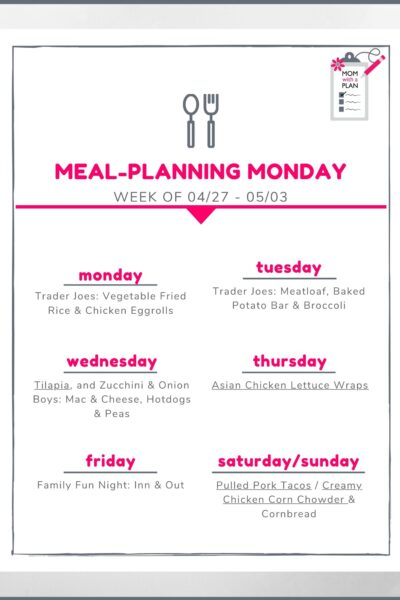 Meal Planning Monday - Get the best meal planning tips every week