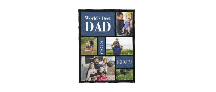 Personalized Dad Blanket
