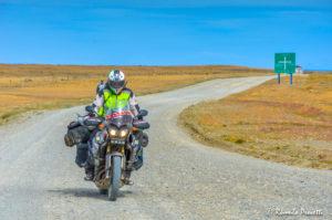 Moto - Ruta 257, Tierra del Fuego, Chile