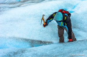 Alpinista do gelo - Glaciar Perito Moreno, Argentina