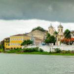Vista de Penedo a partir do rio São Francisco - Divisa Sergipe/Alagoas, Brasil