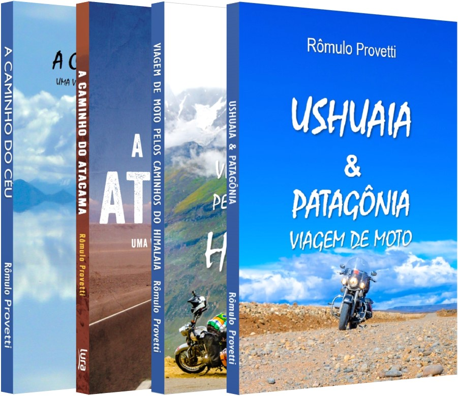 Livros sobre viagem de moto