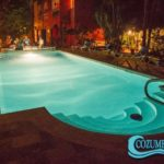 12.- Casa_Colonial swimming pool at night