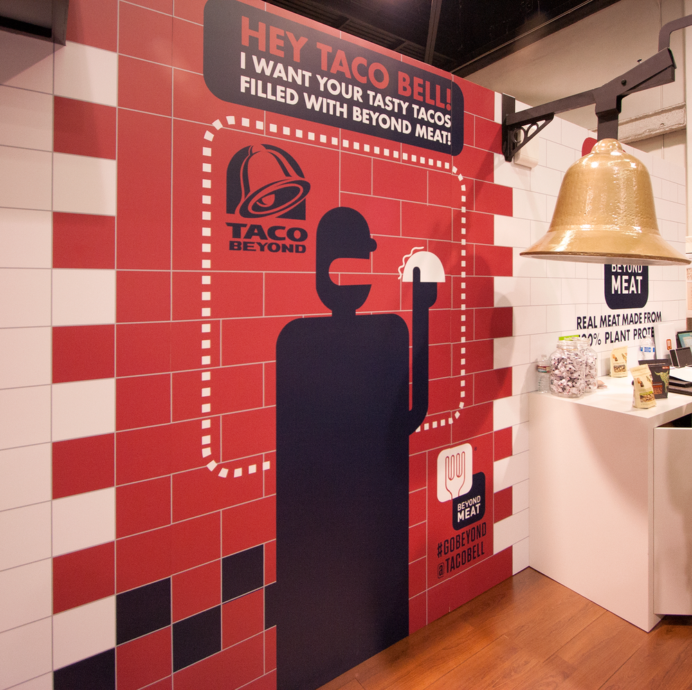 Taco Bell Beyond Meat Backwall Tradeshow booth