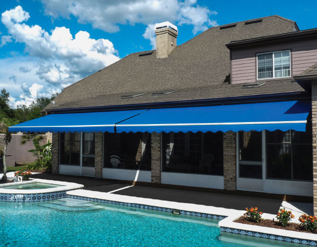 The Sunlight retractable awning by Sunesta
