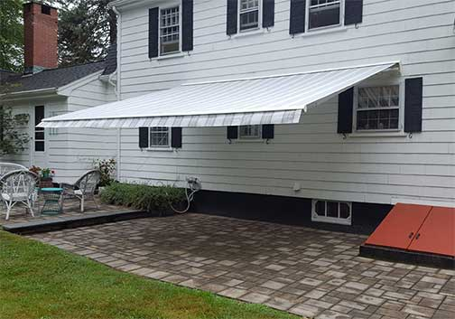 Sunspaces awning installation process