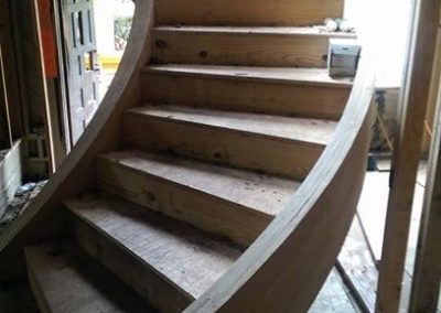 This staircase was so consumed with smoke & fire damage that we had to remove the old structure and rebuild it to its former glory. Our talented staff of carpenters made easy work of this task. As you can tell, working with wood is one of our passions and a cornerstone of our business!