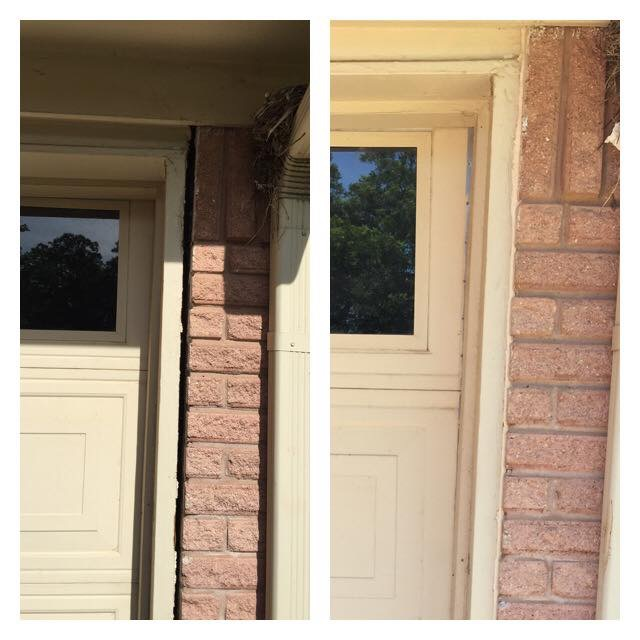 Using the process of our lifting mechanisms, we are able to fix issues in and around the home. This image shows our repair on a drafty and crooked door. We realigned this home, repaired and door and saved the home owner on costly insulation repairs. Needless to say, when you fix your foundation it aligns other things in your life the right way!