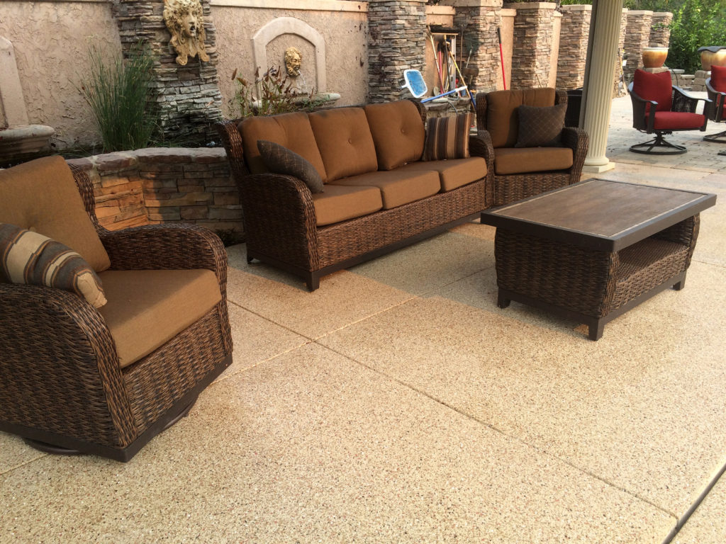 Here is another example of our industrial flooring system installed in an outdoor patio.