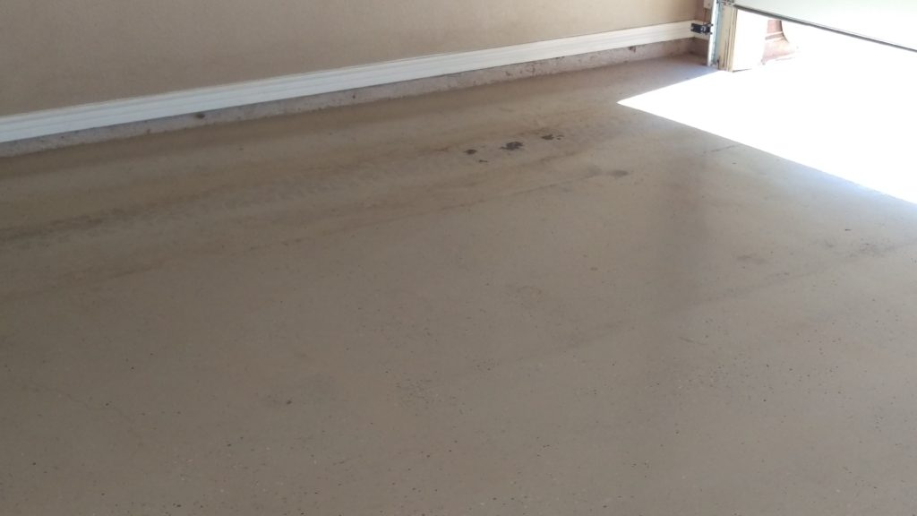 This image shows our original concrete floor at the Wetzel job. This is the canvas that we now paint upon and we're going to show you how it's done!