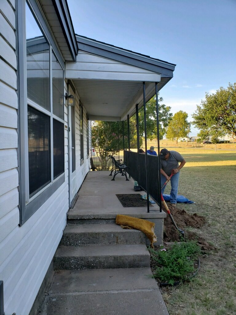 Our Foundation Repair division can get beneath the beam of your home and literally lift it back into place. We use high quality machinery to identify the severity of the movement and lift the home until it's back at level.