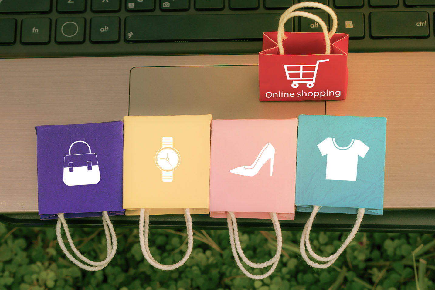 shopping categories and laptop