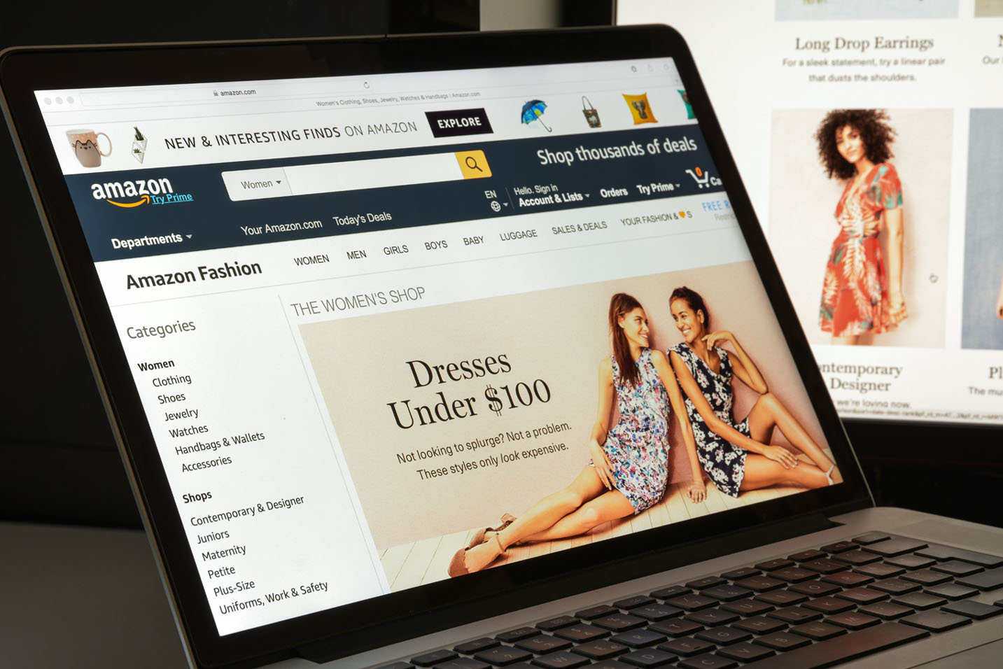 amazon shopping with brand store