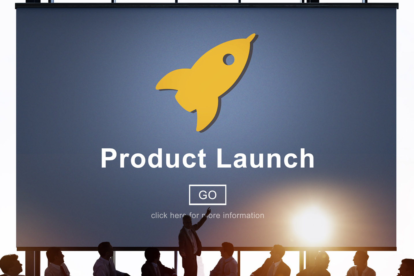 product launch graph and slide