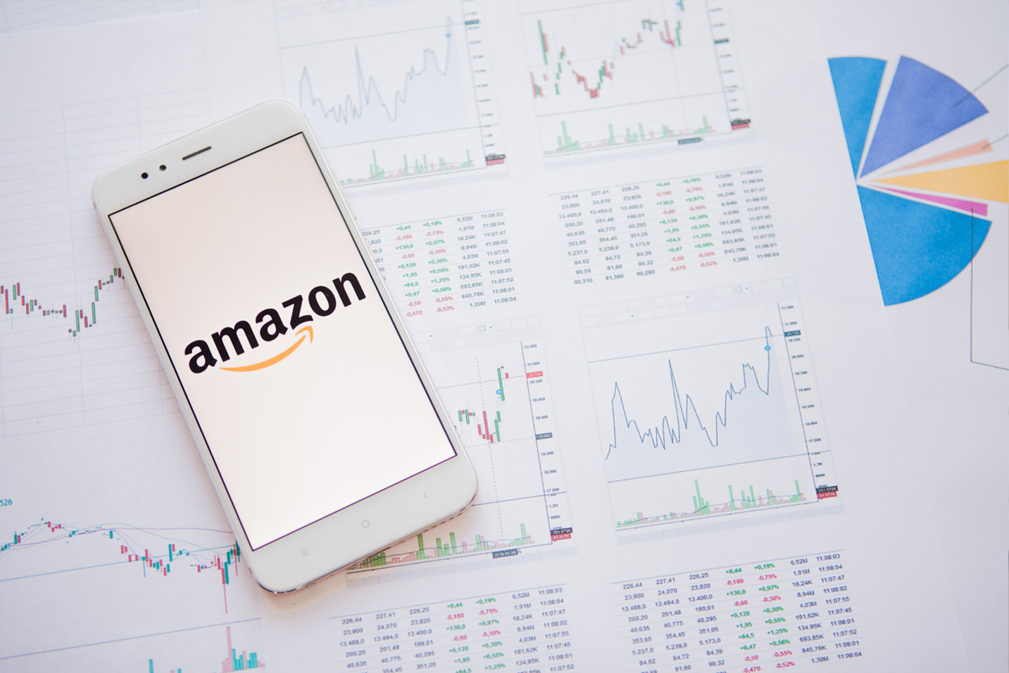 amazon app and graph of profit and loss