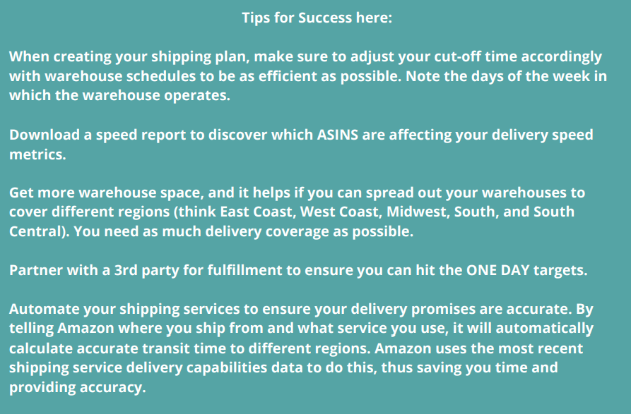 tips for success seller fulfilled prime amazon