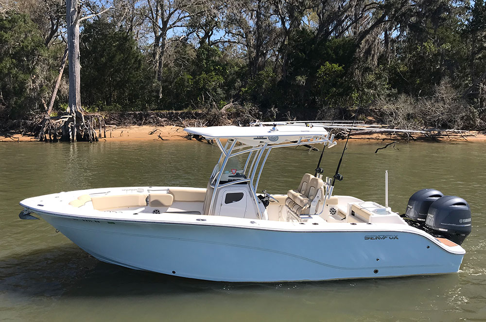 2017 Sea Fox Commander boat in the water