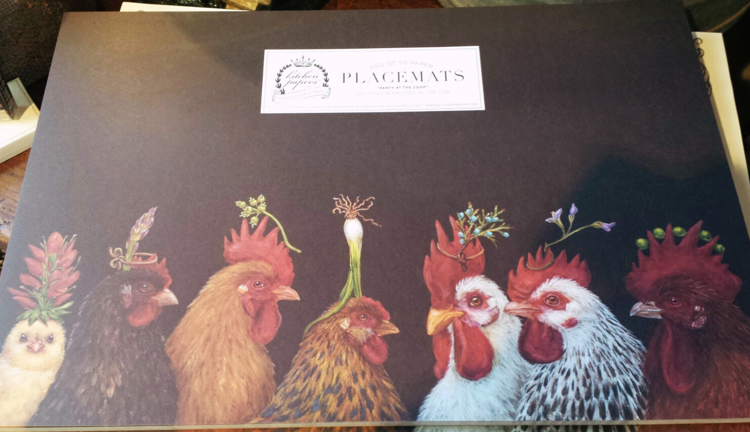 """""""Party at the Coop"""" placemats"""