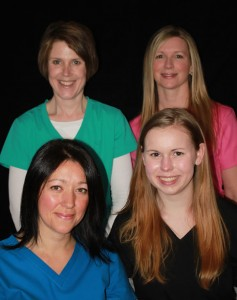 Back L-R: Wendy Lazenby, Sherrie Scott, Tara Plumb, Jessica Beasley
