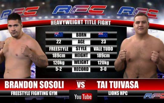 AFC 16 – Brandon Sosoli Vs Tai Tuivasa – Heavyweight Title Fight – AFCMMAFIGHTING