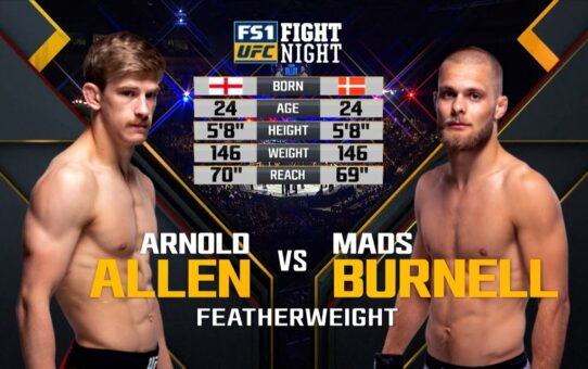 Free Fight: Arnold Allen vs Mads Burnell