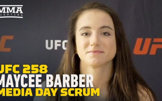 UFC 258: Maycee Barber On Stephen A. Smith/Haters: 'Most of Them Can't Throw A Punch' – MMA Fighting
