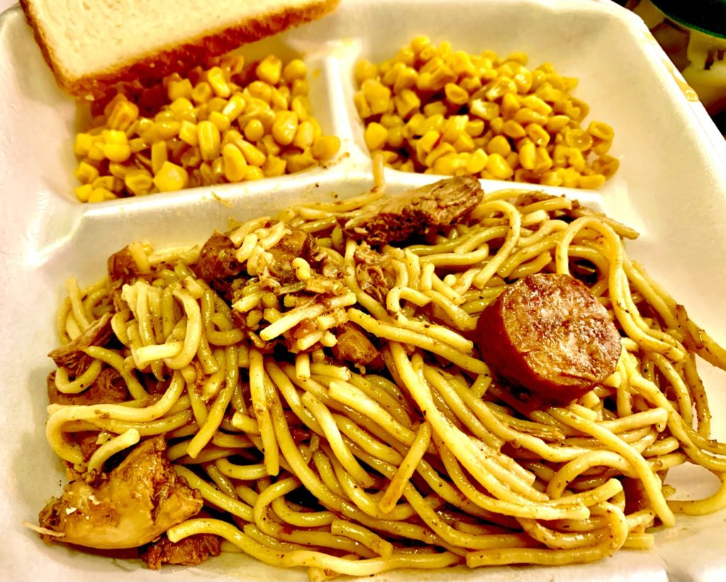 Thursday Lunch special: Pastalaya and Corn