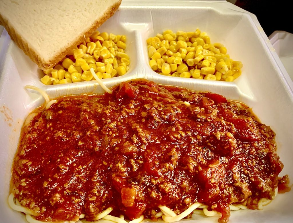Thursday Lunch Special: Spaghetti and Corn