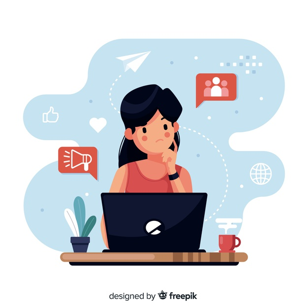 flat-design-thinking-character-with-elements-around_23-2148270055