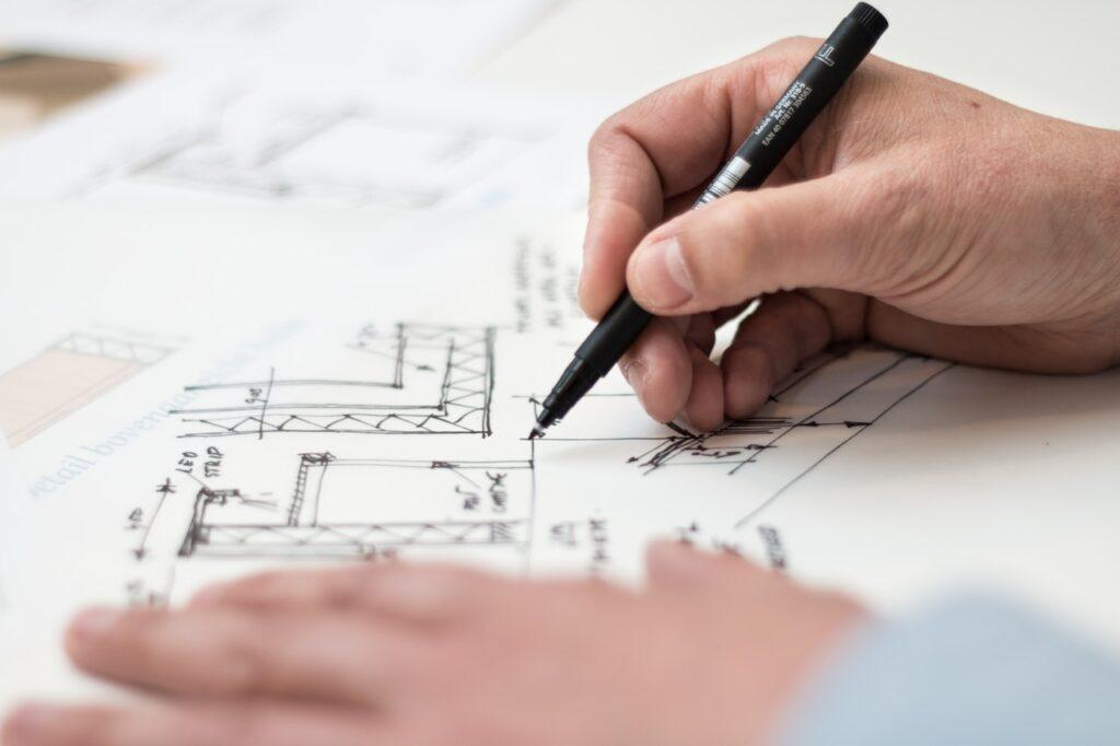 house plan drawn by hand