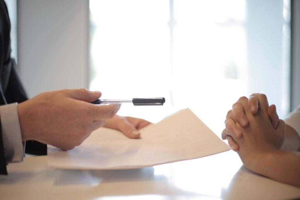 Signing some paperwork