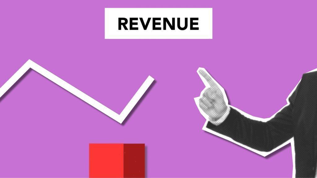 Graphic depicting the concept of revenue