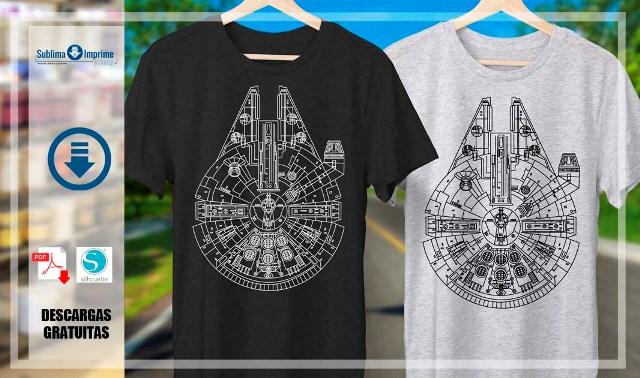 diseño para camisetas halcon milenario