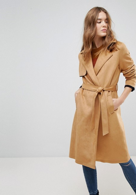 ASOS New Look Suedette Trench